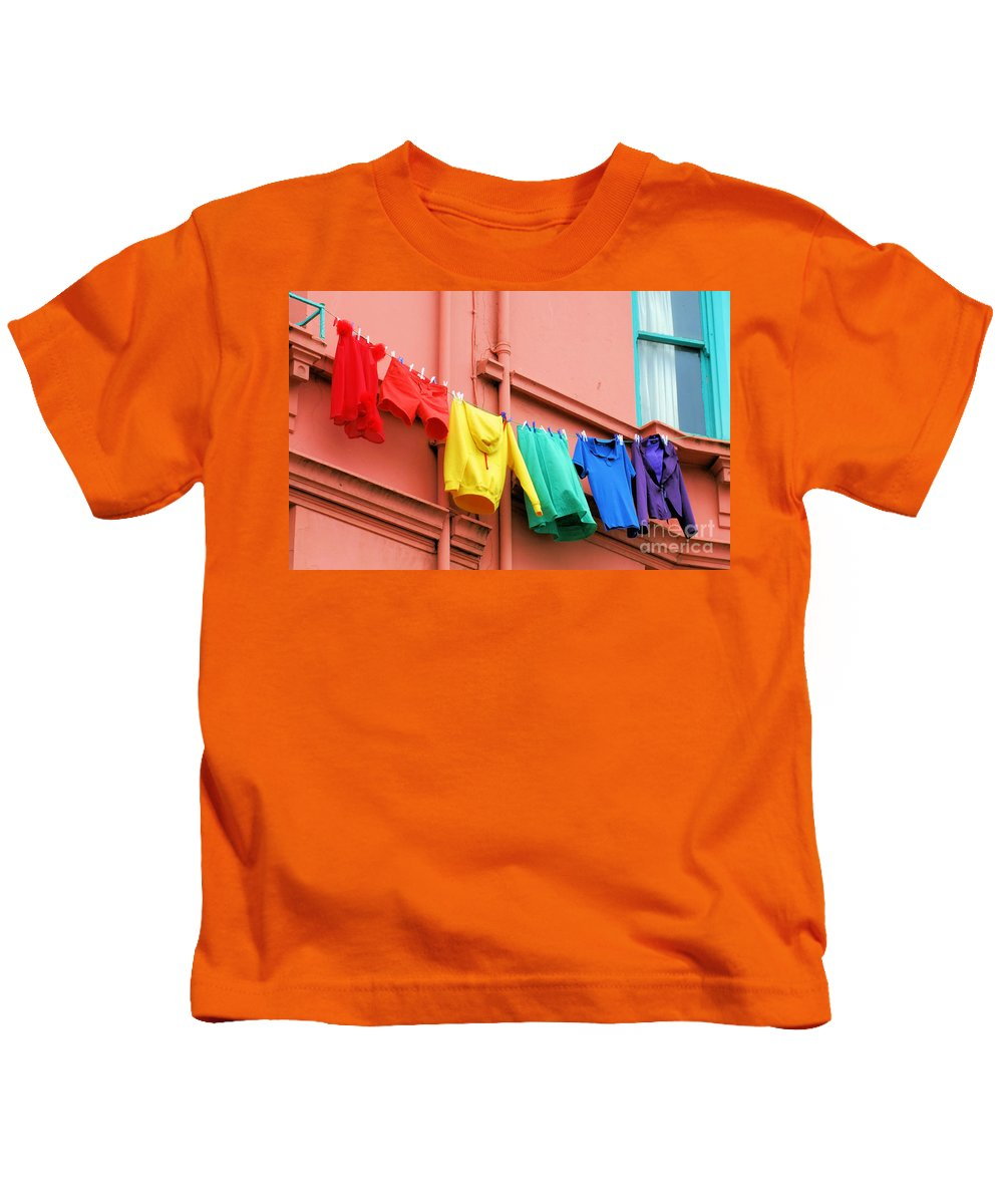 Brighton Kids T-Shirt featuring the photograph Rainbow by Jamie McGrane