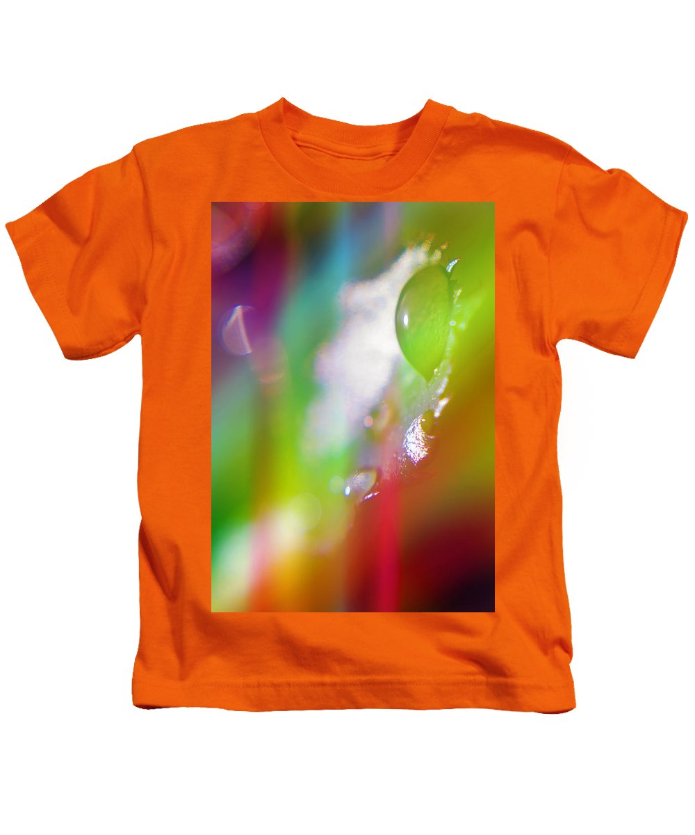 Diamonds Kids T-Shirt featuring the photograph Rainbow Rain 2 by Alex Art and Photo