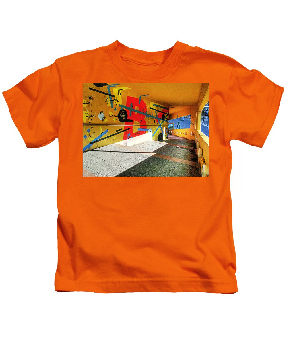 Tunnel Kids T-Shirt featuring the photograph Recoleta Tunnel by Francisco Colon