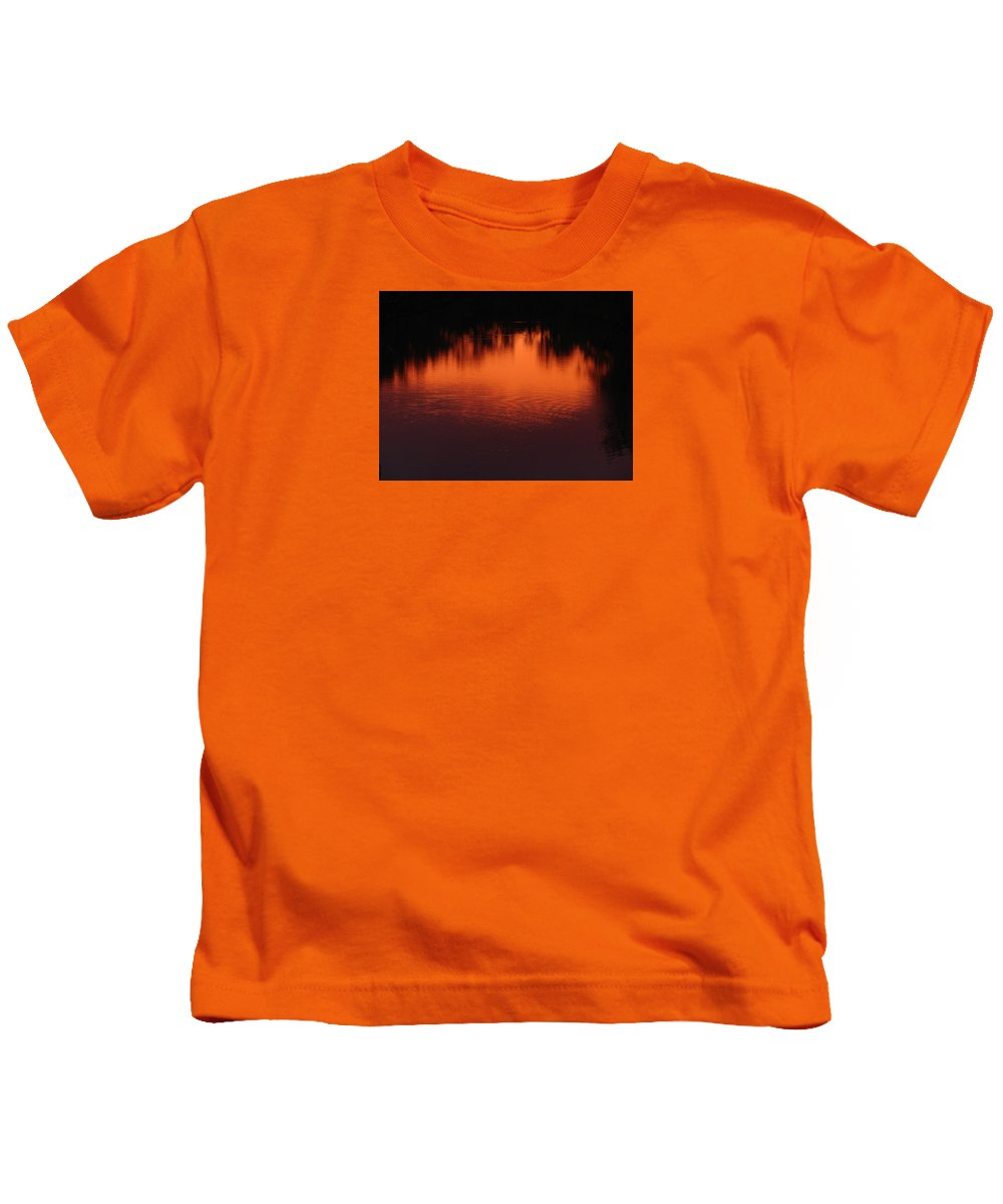 Red Sun Set Kids T-Shirt featuring the photograph Red Ripples by J R Seymour