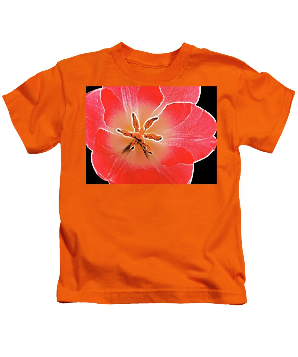 Flower Kids T-Shirt featuring the photograph Red Tulip by Charles Muhle