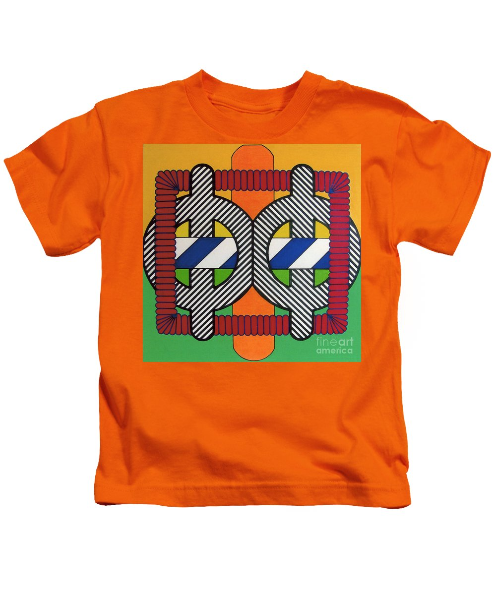 Abstract Kids T-Shirt featuring the drawing Rfb0608 by Robert F Battles
