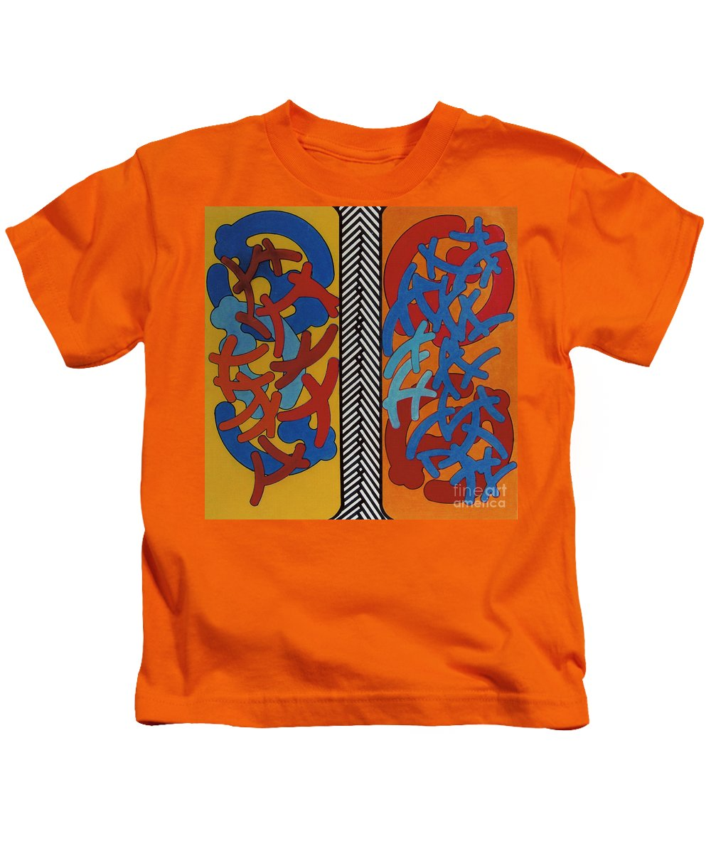 Lungs Kids T-Shirt featuring the drawing Rfb0704 by Robert F Battles
