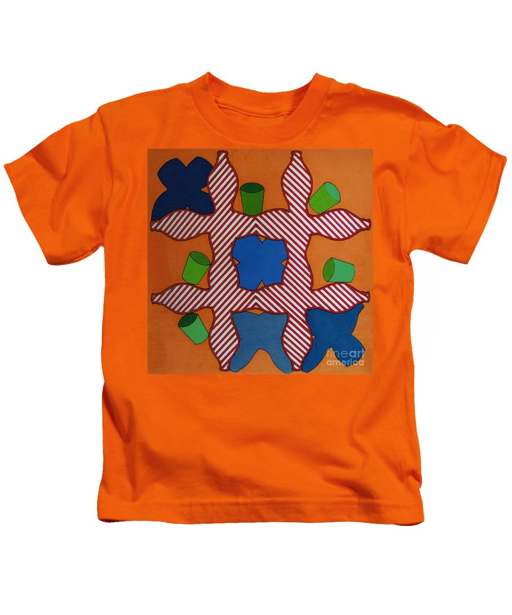 Tic-tac-toe Kids T-Shirt featuring the drawing Rfb0806 by Robert F Battles