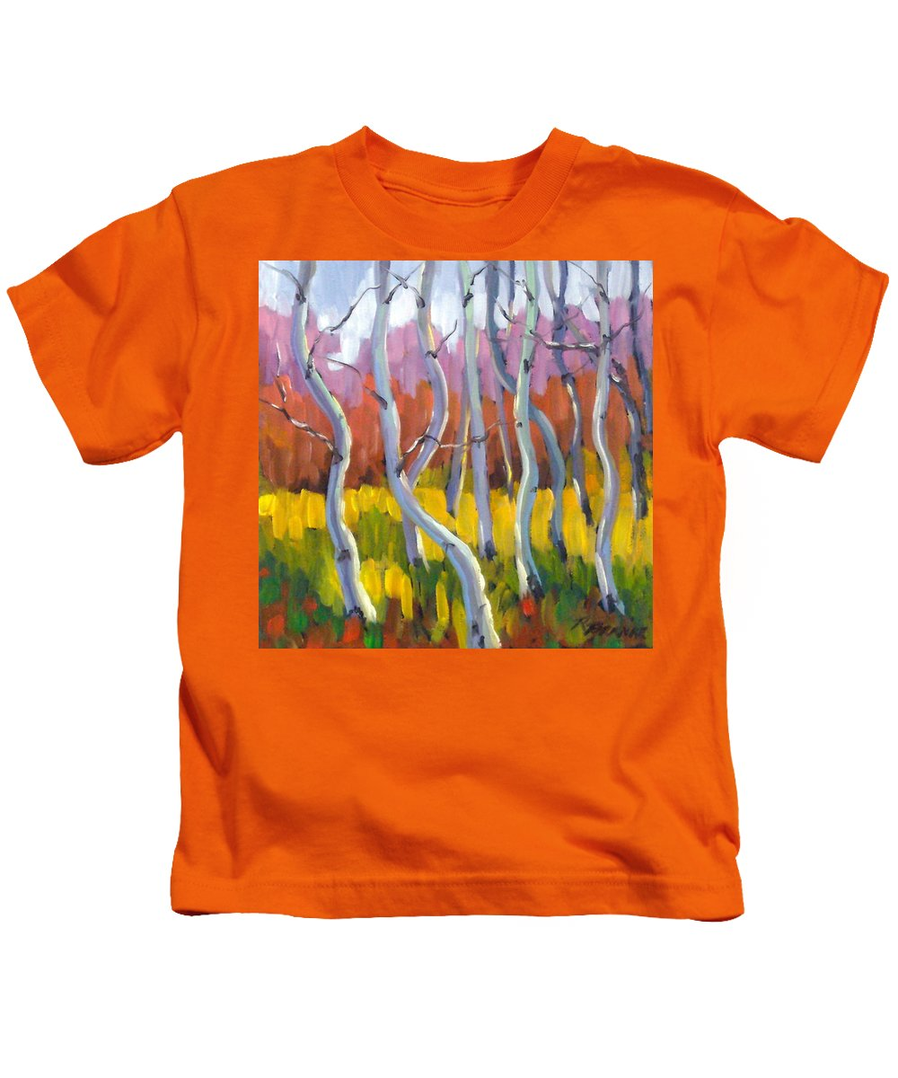 Art Kids T-Shirt featuring the painting Rhapsody No 5 by Richard T Pranke