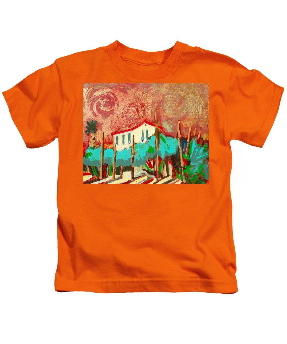 Tuscany Kids T-Shirt featuring the painting Ricordare by Kurt Hausmann
