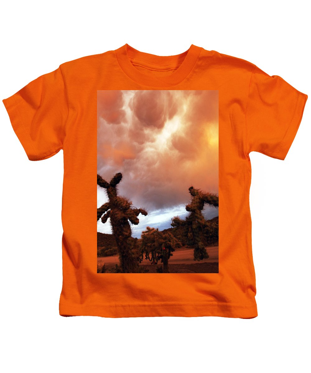 Storm Kids T-Shirt featuring the photograph Roiling Sky by Jill Reger