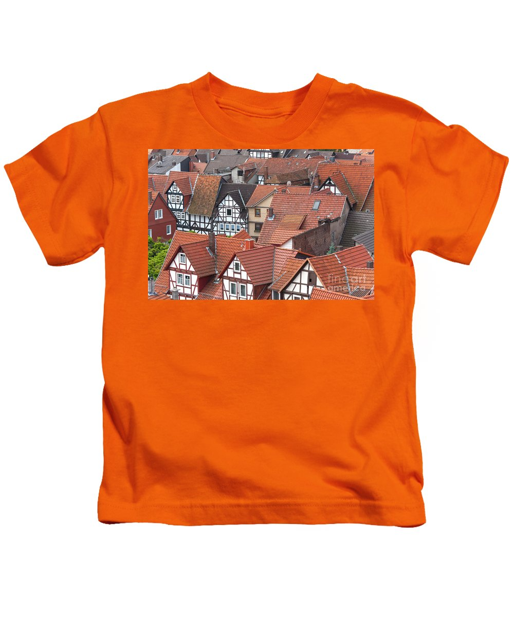 Deutschland Kids T-Shirt featuring the photograph Roofs Of Bad Sooden-allendorf by Heiko Koehrer-Wagner