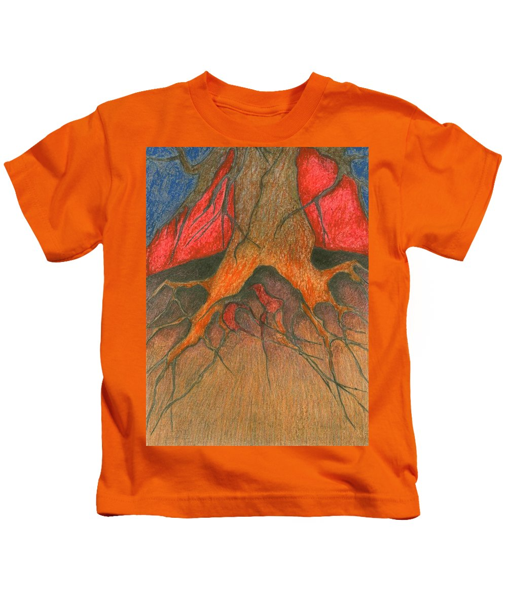 Colour Kids T-Shirt featuring the painting Roots by Wojtek Kowalski