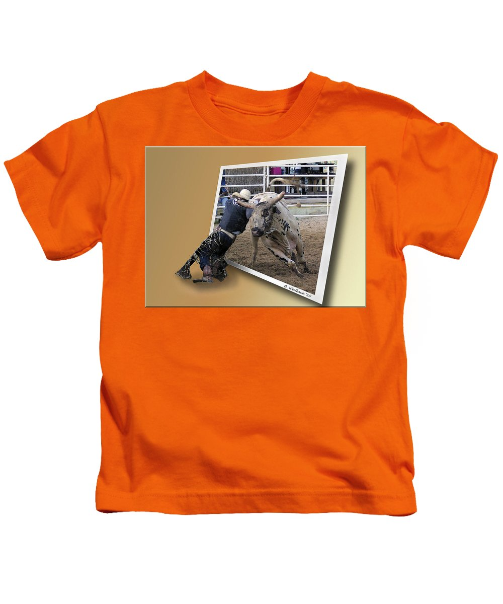 2d Kids T-Shirt featuring the photograph Rough Ride by Brian Wallace