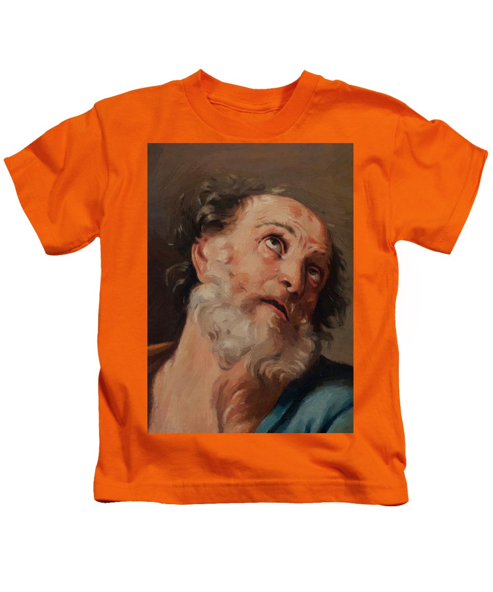 Saint Kids T-Shirt featuring the painting Saint Peter by Reni Guido