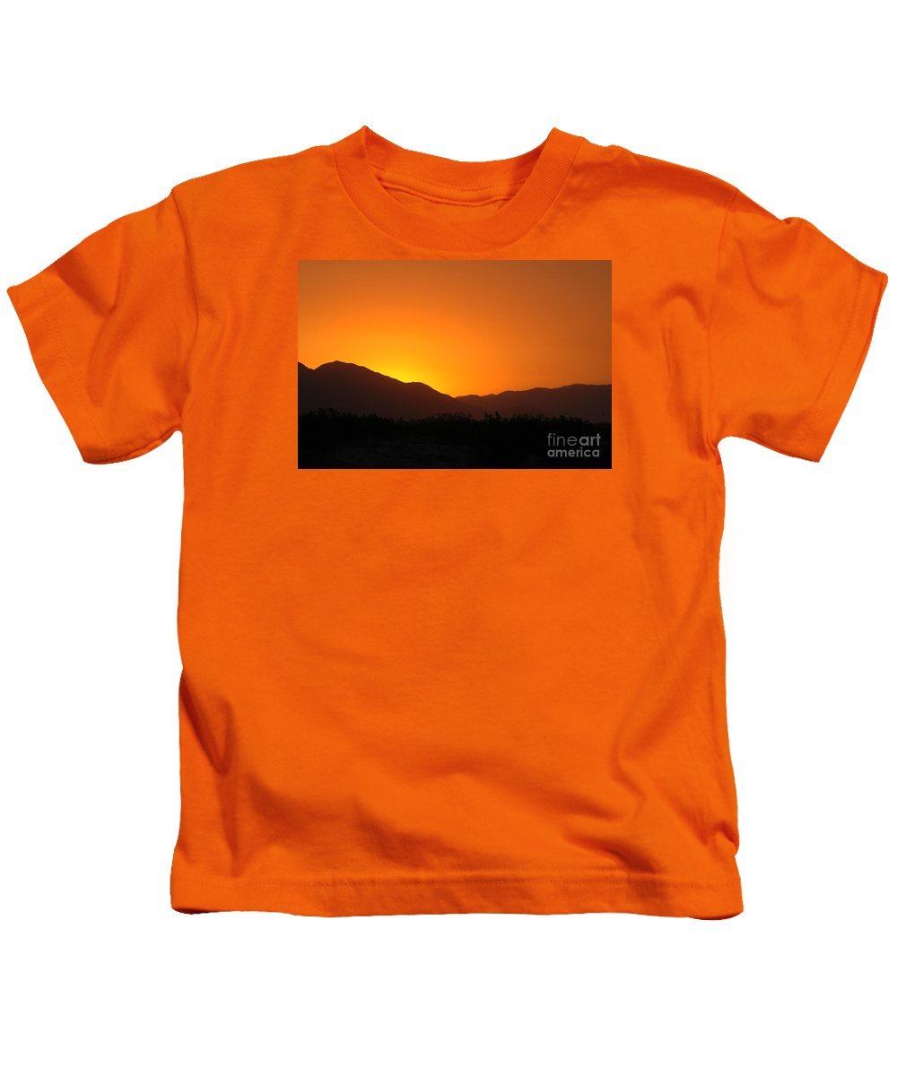 Sunset Kids T-Shirt featuring the photograph San Jacinto Dusk Near Palm Springs by Michael Ziegler