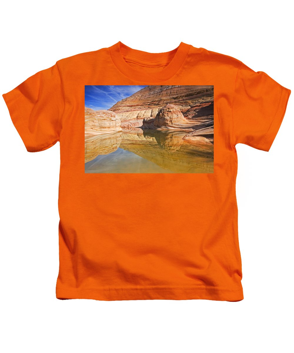 Pool Kids T-Shirt featuring the photograph Sandstone Illusions by Mike Dawson