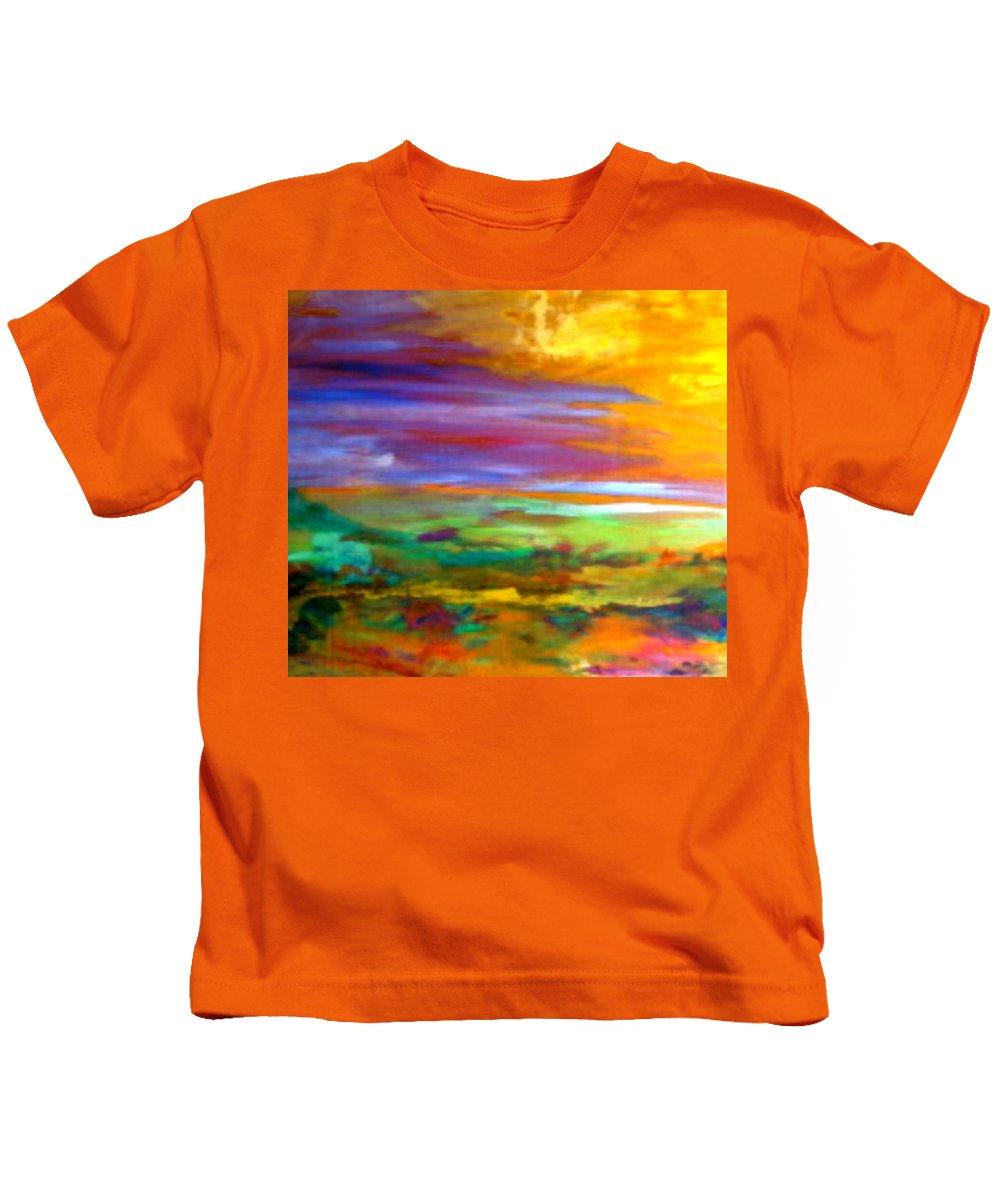 Saskatchewan Kids T-Shirt featuring the painting Saskatchewan by Contemporary Luxury Fine Art