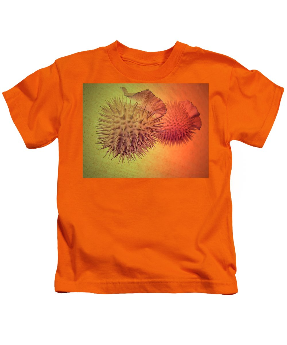 Seed Kids T-Shirt featuring the photograph Seasons Of Life - Beginning And Ending by Joyce Dickens