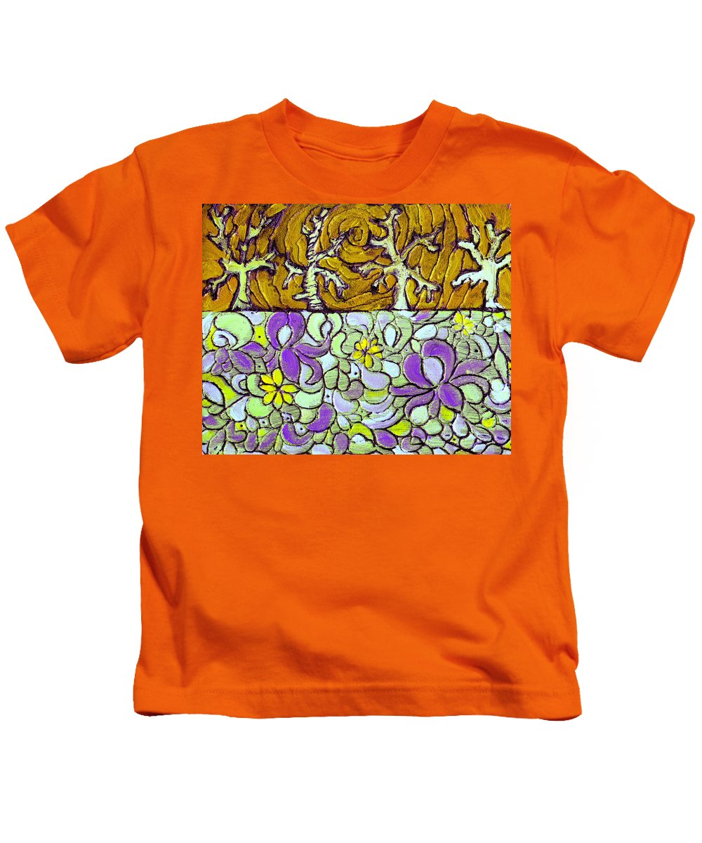 Meadow Kids T-Shirt featuring the painting Seduced By The Meadow by Wayne Potrafka