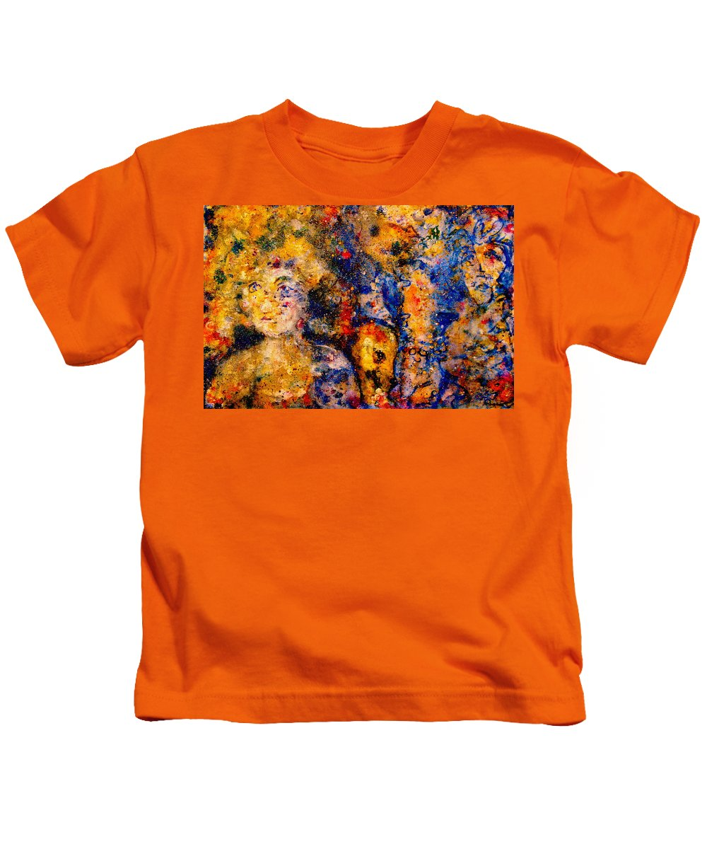 Expressionism Kids T-Shirt featuring the painting Seeking Wanderers by Natalie Holland