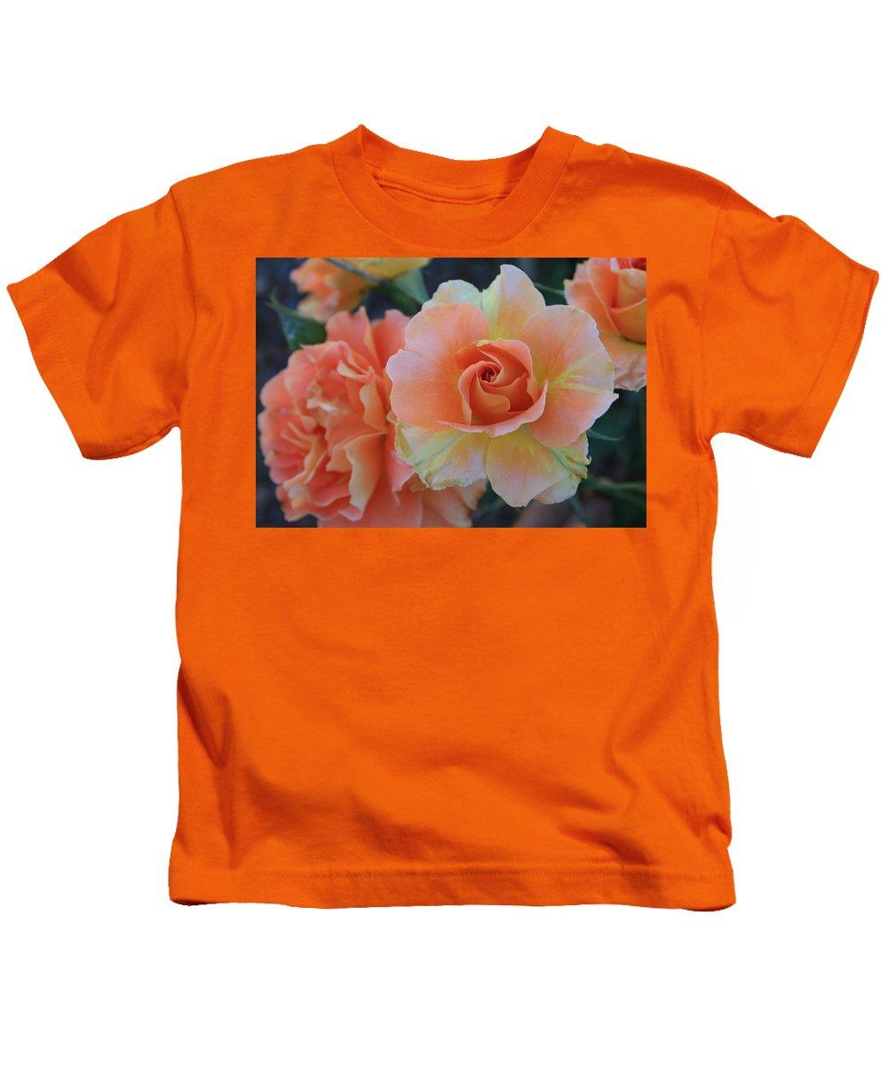 Sherbert Kids T-Shirt featuring the photograph Sherbert Rose by Marna Edwards Flavell
