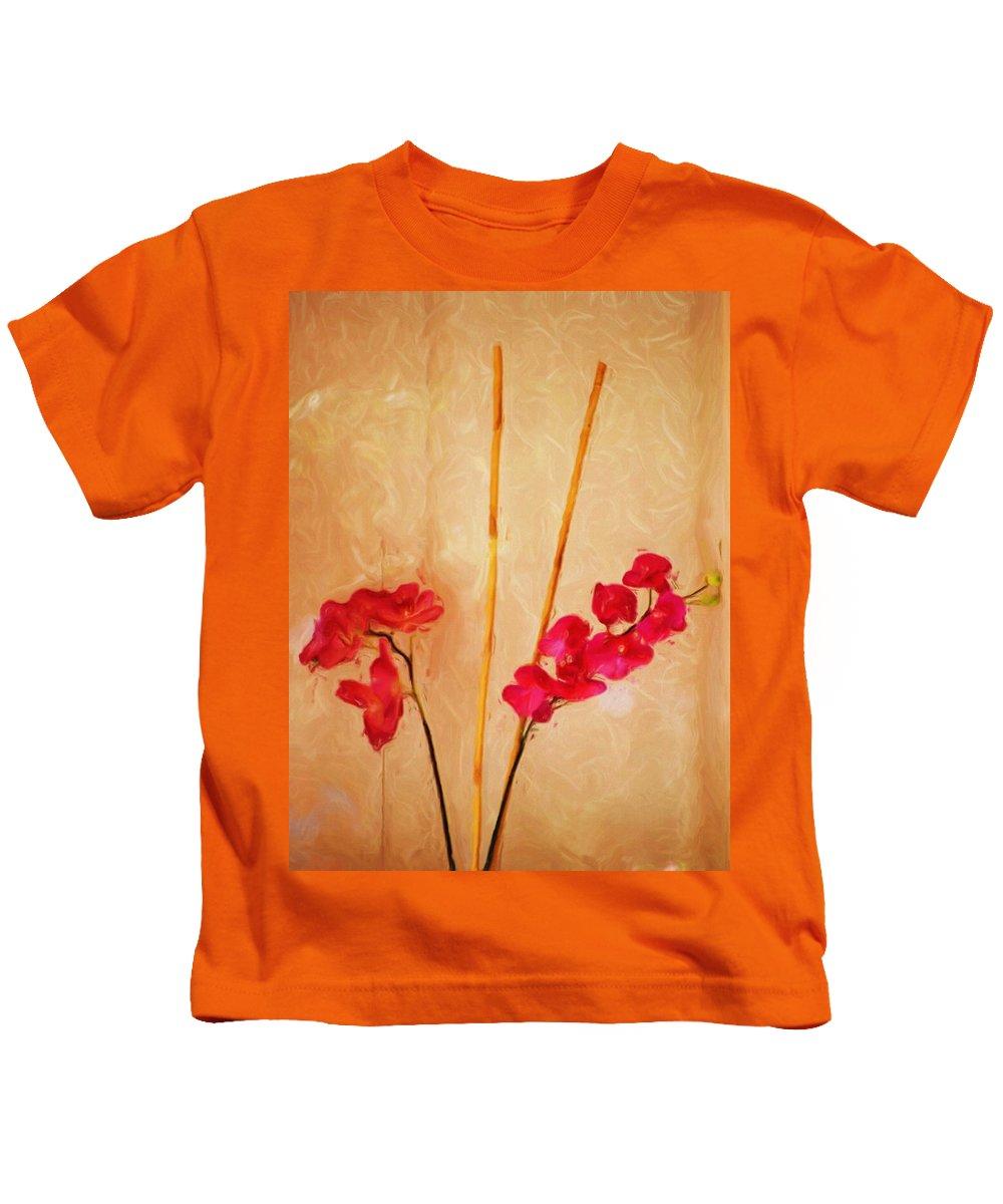 Fine Art Kids T-Shirt featuring the digital art Simple Floral Arrangement by David Lane
