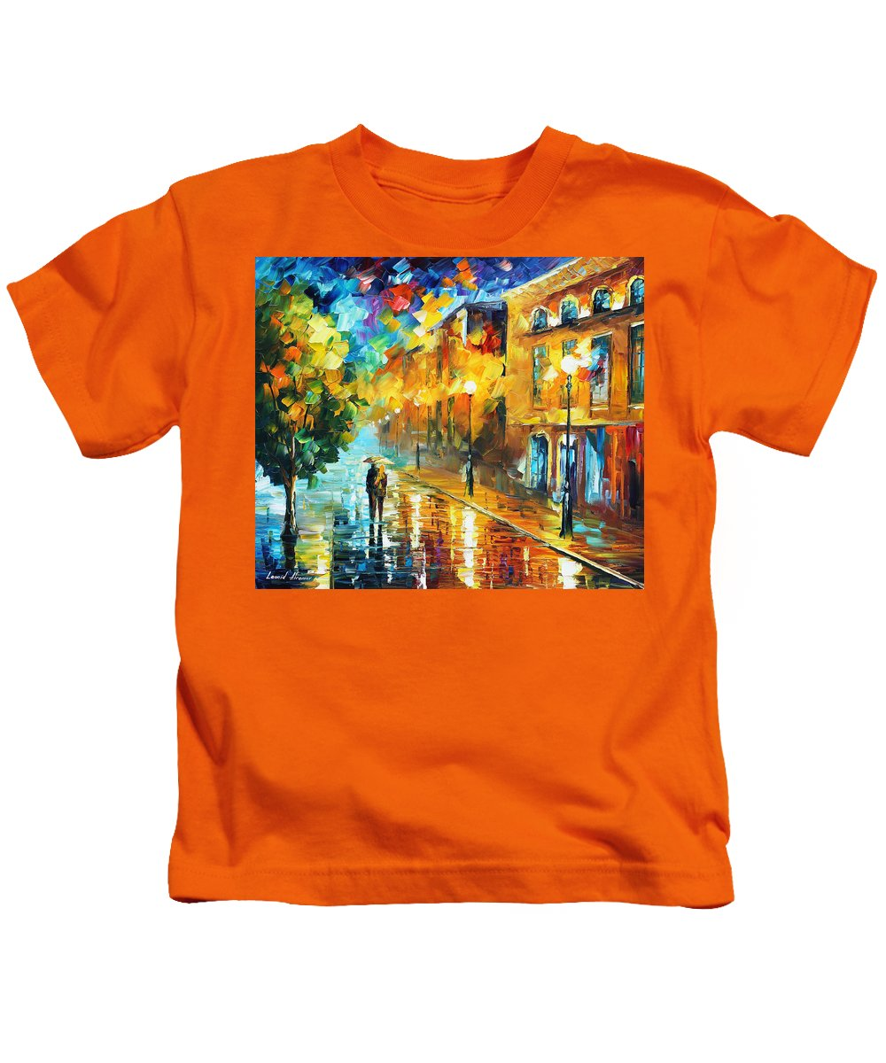 Afremov Kids T-Shirt featuring the painting Simple Life by Leonid Afremov
