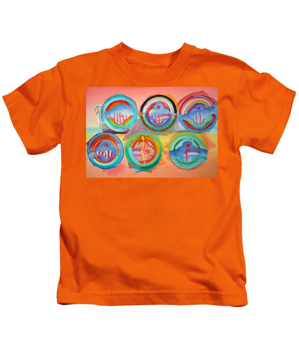 9/11 Kids T-Shirt featuring the painting Six American Icons by Charles Stuart