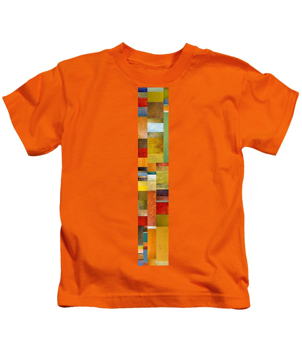Skinny Kids T-Shirt featuring the painting Skinny Color Study L by Michelle Calkins