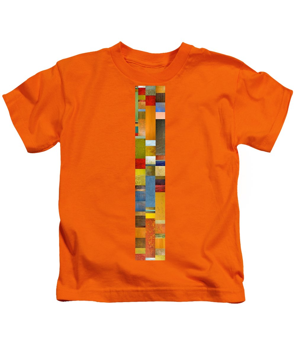 Skinny Kids T-Shirt featuring the painting Skinny Color Study Ll by Michelle Calkins
