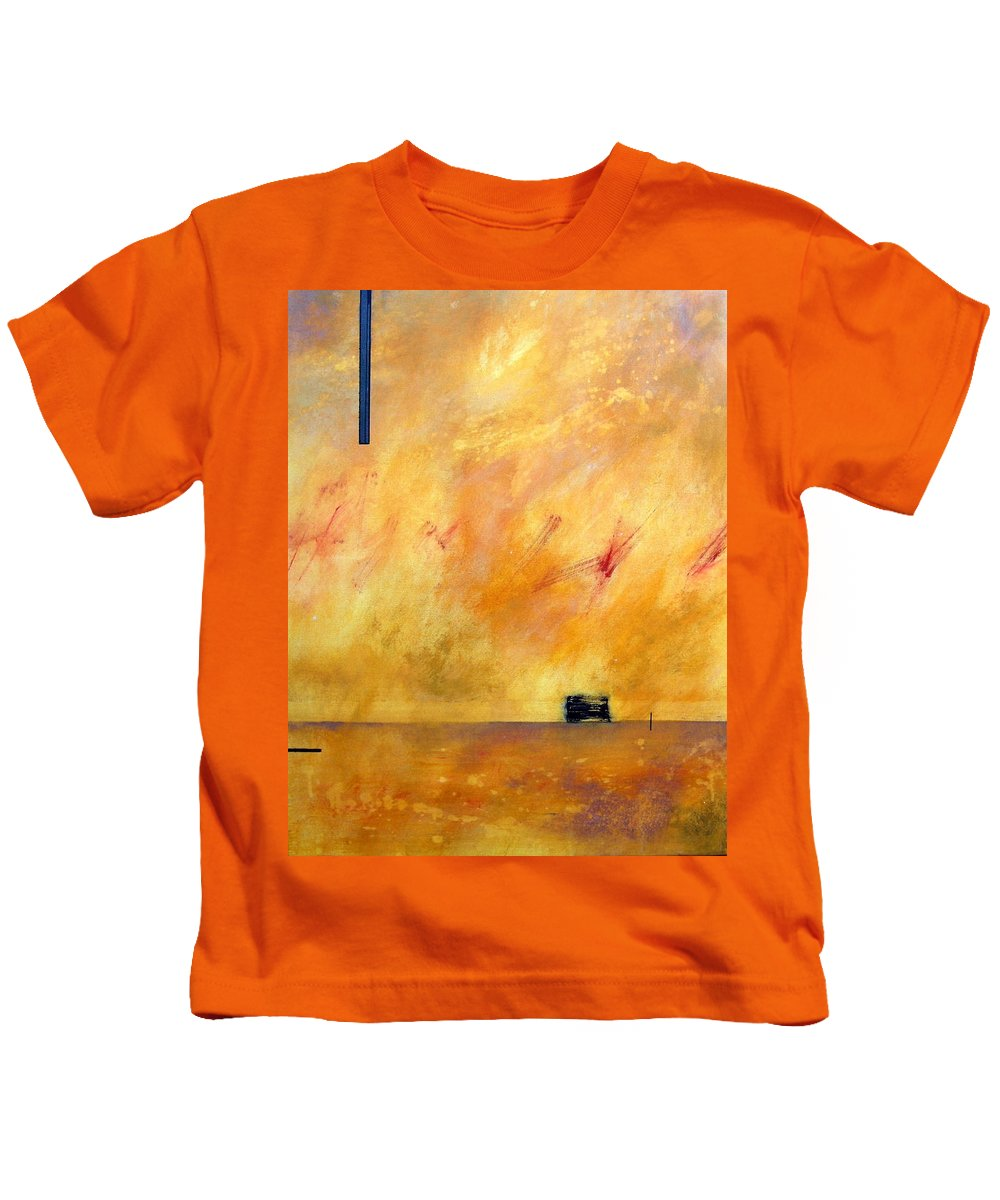 Sky Kids T-Shirt featuring the painting Sky Dancers by Rose Lynch