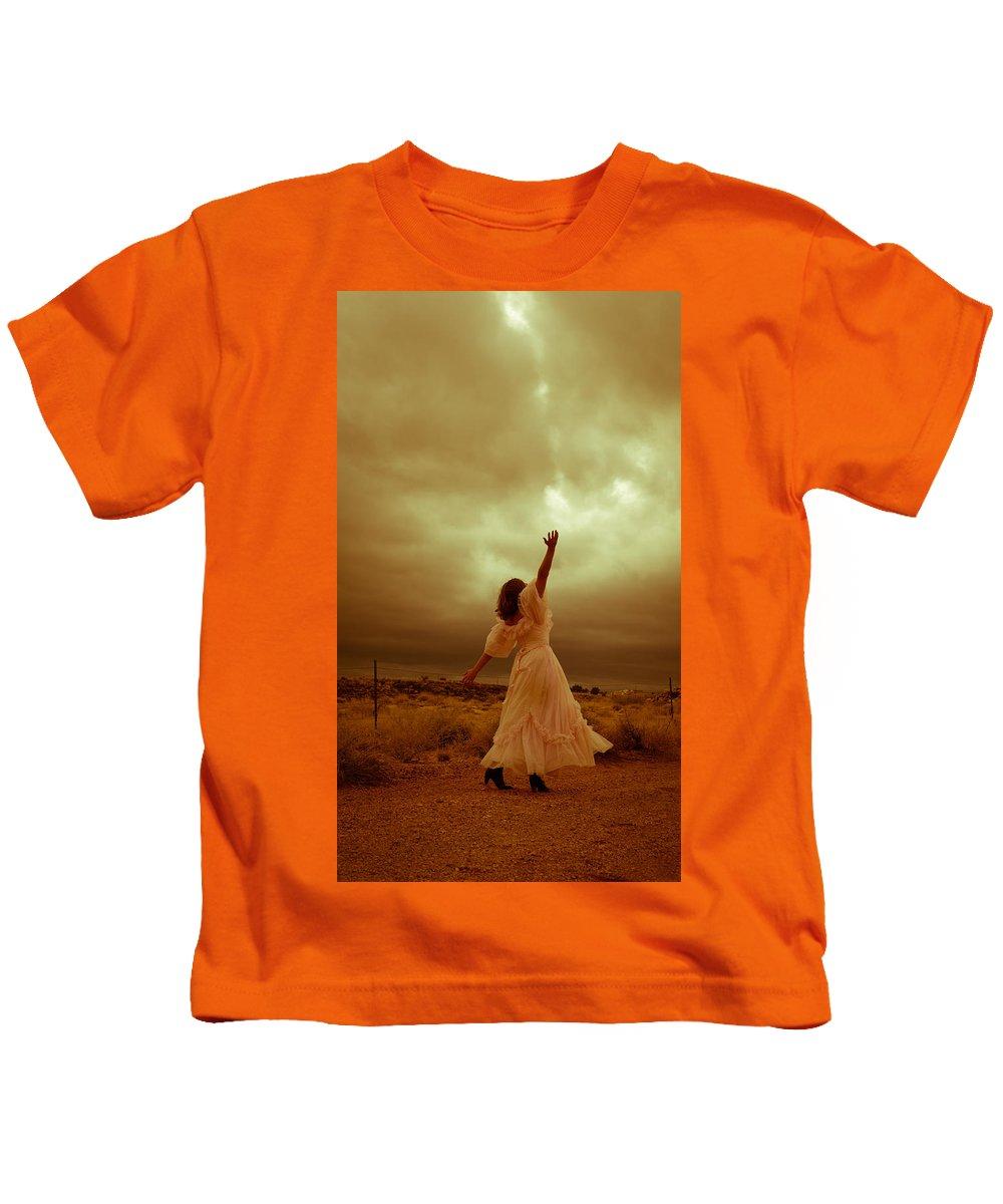 Storm Kids T-Shirt featuring the photograph Sky Splitter by Scott Sawyer