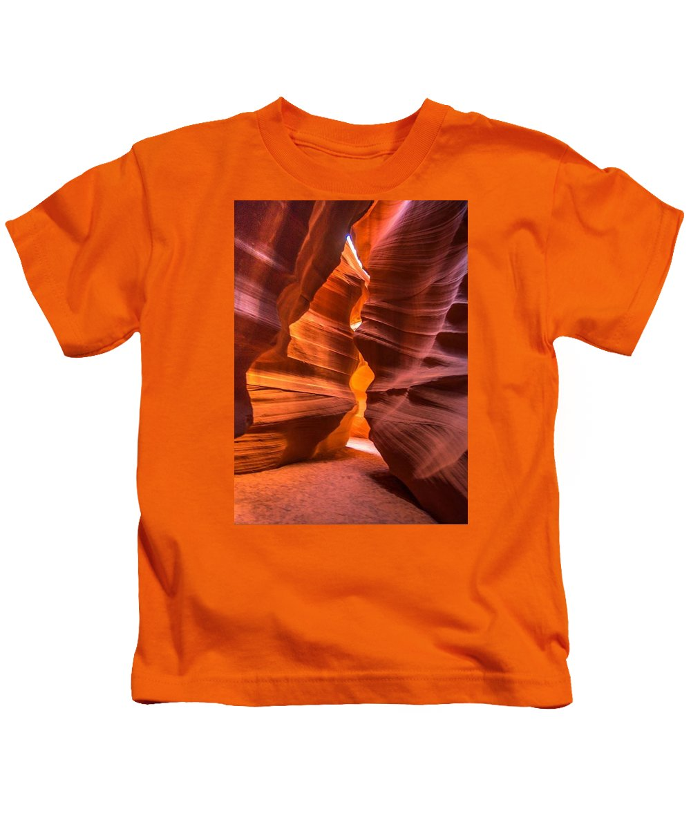 Slot Canyon Kids T-Shirt featuring the photograph Slot Canyon by Jerry Cahill