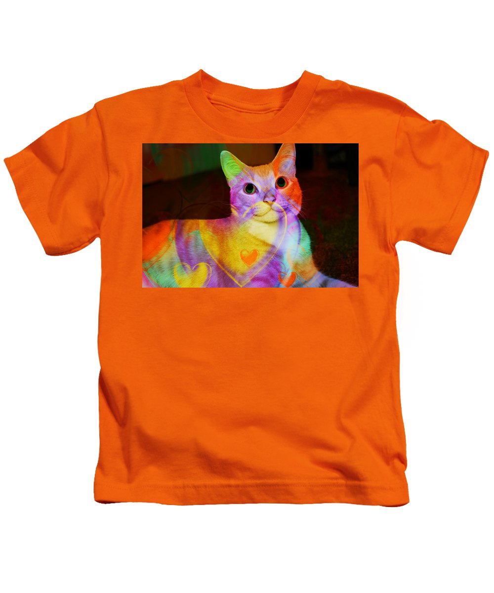 Kitty Kids T-Shirt featuring the photograph Smiling Kitty by Ericamaxine Price