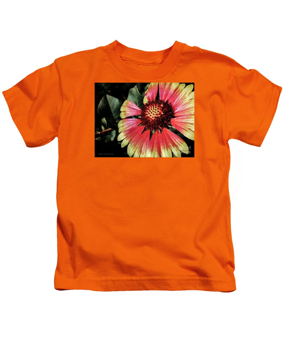 Flora Kids T-Shirt featuring the photograph Soaking Up The Sun by Todd Blanchard