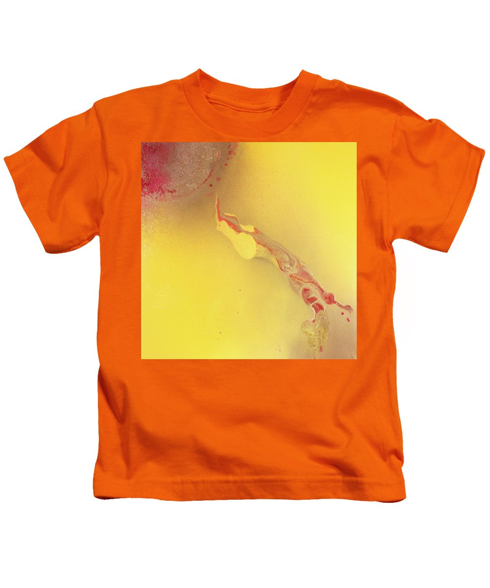 Canvas Kids T-Shirt featuring the painting Sophistication by Leah Hicks