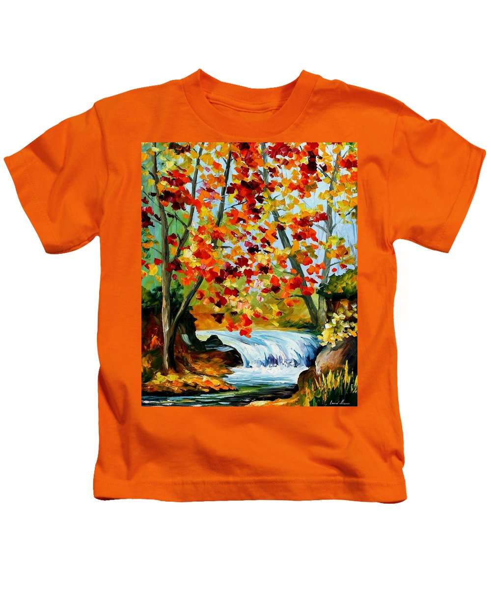 Afremov Kids T-Shirt featuring the painting Source by Leonid Afremov
