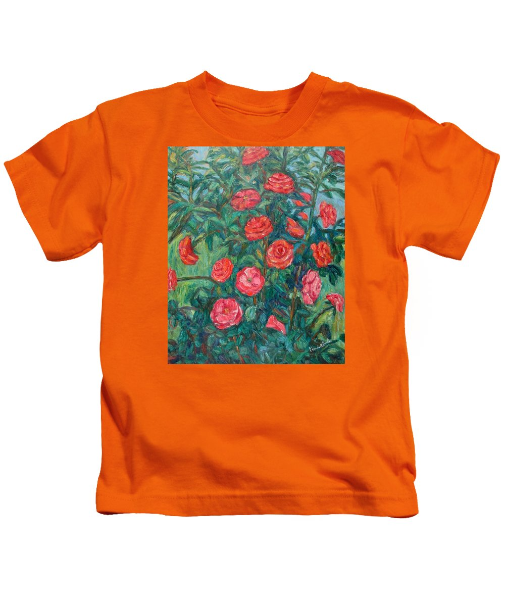 Rose Kids T-Shirt featuring the painting Spring Roses by Kendall Kessler