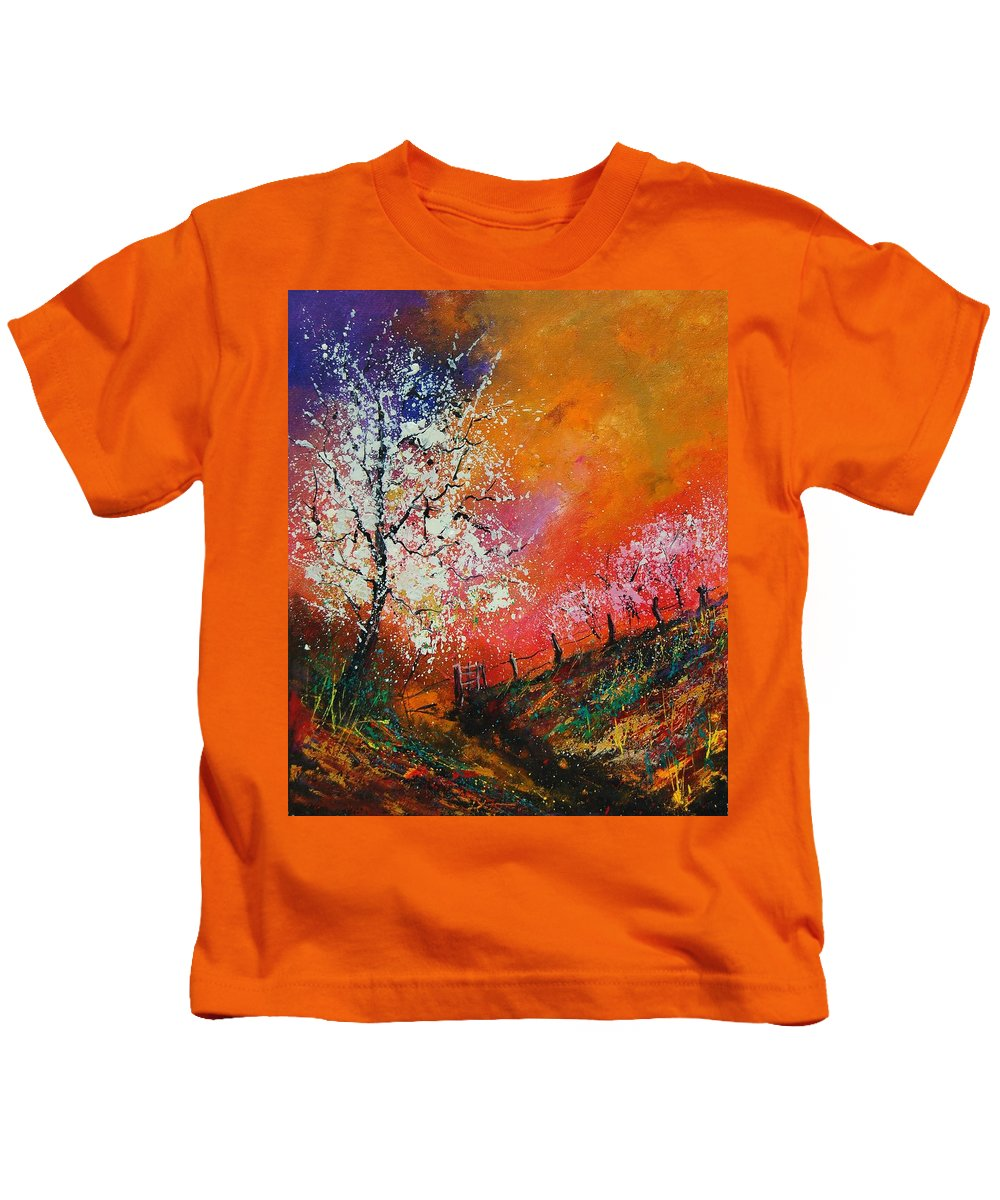 Spring Kids T-Shirt featuring the painting Spring Today by Pol Ledent