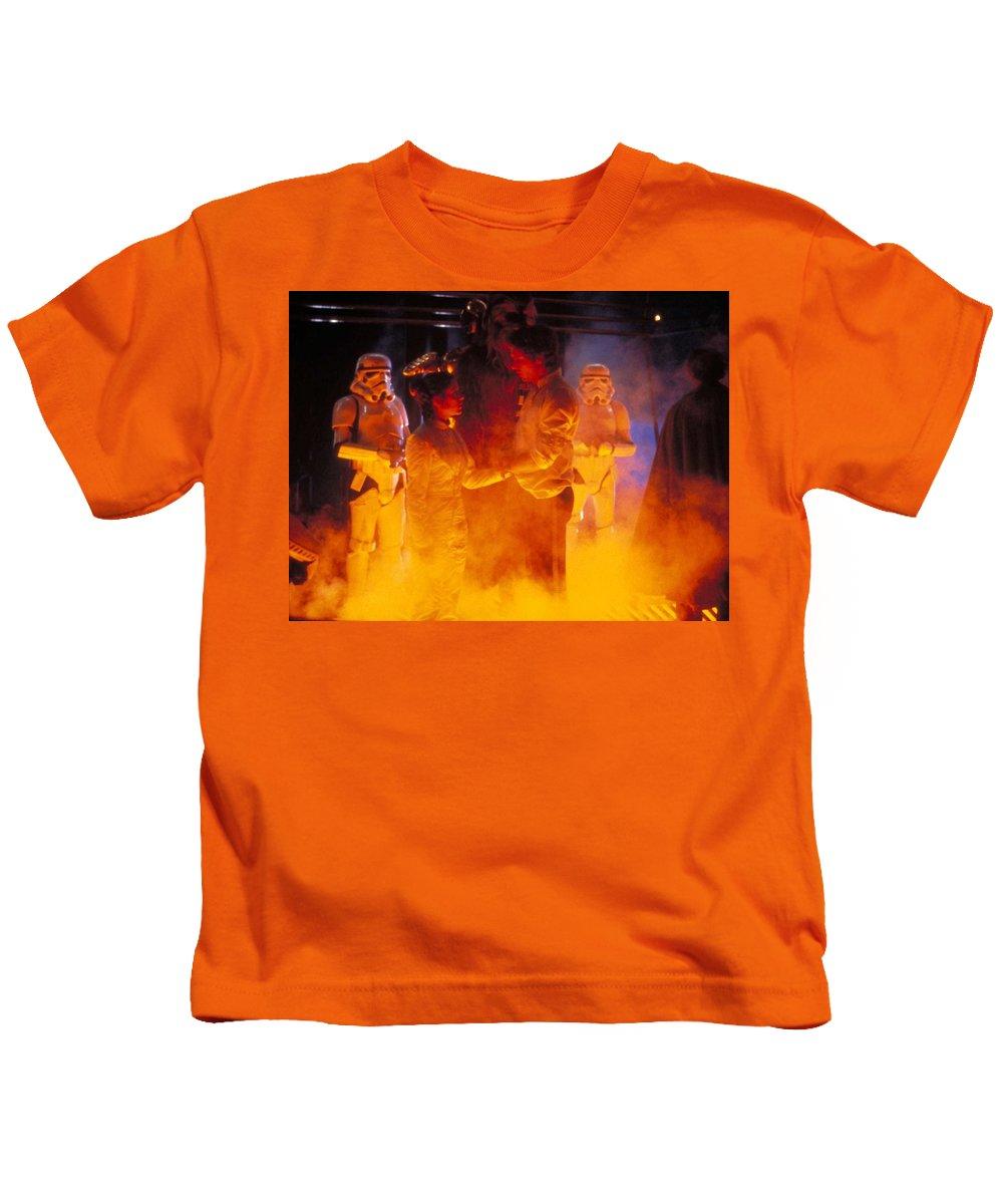 Star Wars Episode V The Empire Strikes Back Kids T-Shirt featuring the digital art Star Wars Episode V The Empire Strikes Back by Dorothy Binder