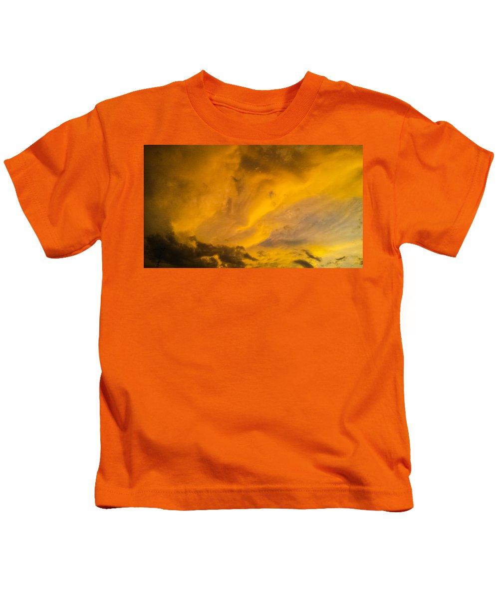 Storm Clouds Kids T-Shirt featuring the photograph Storm Clouds 3 by Jennifer Kohler
