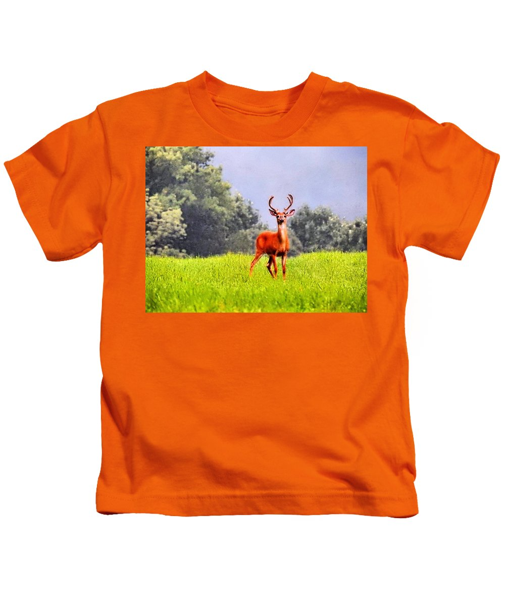 Wildlife Kids T-Shirt featuring the photograph Stud by Greg Kear
