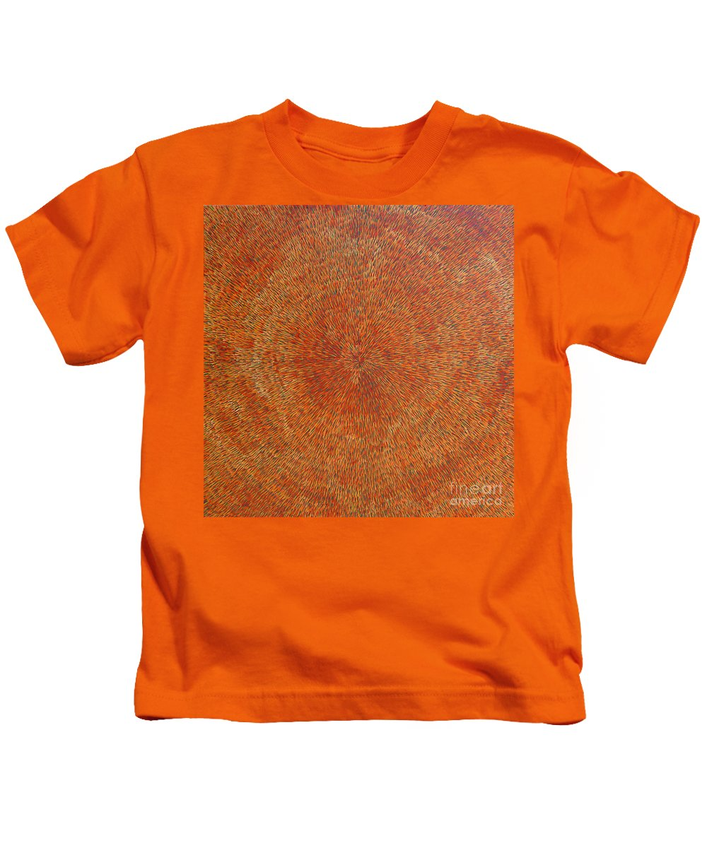 Abstract Kids T-Shirt featuring the painting Su Gaia Earth by Dean Triolo