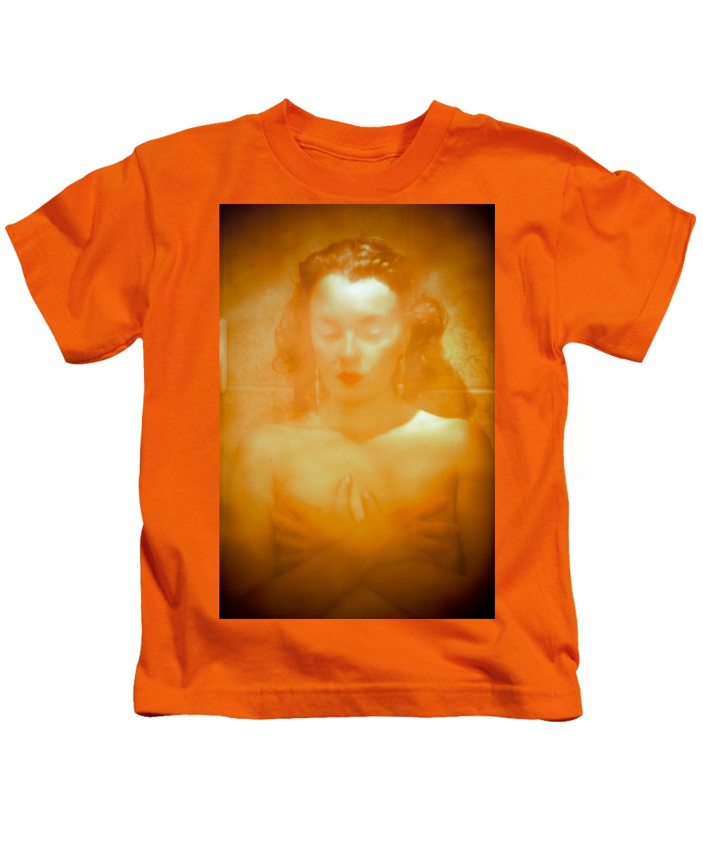 Woman Kids T-Shirt featuring the photograph Subdued Glamor by Scott Sawyer