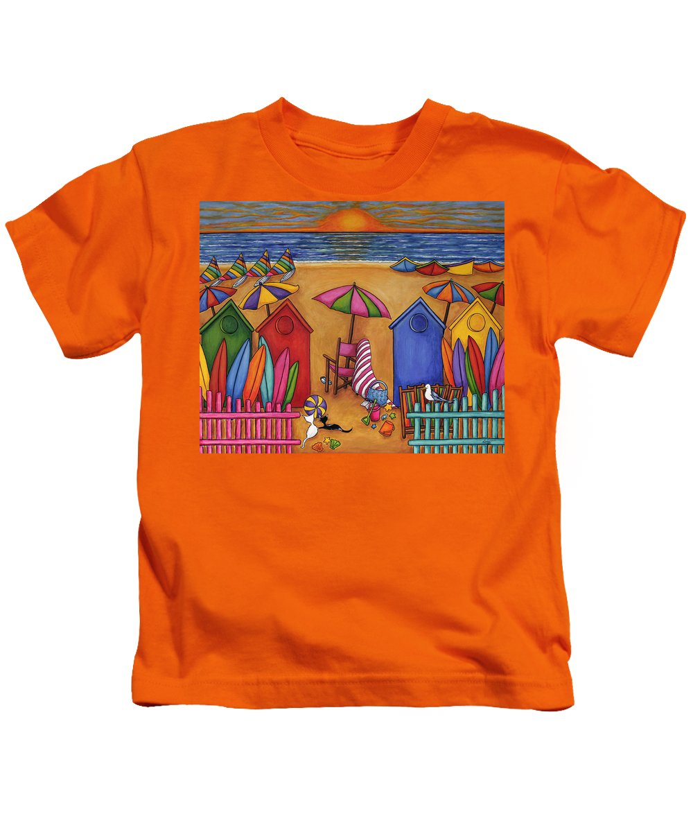 Summer Kids T-Shirt featuring the painting Summer Delight by Lisa Lorenz