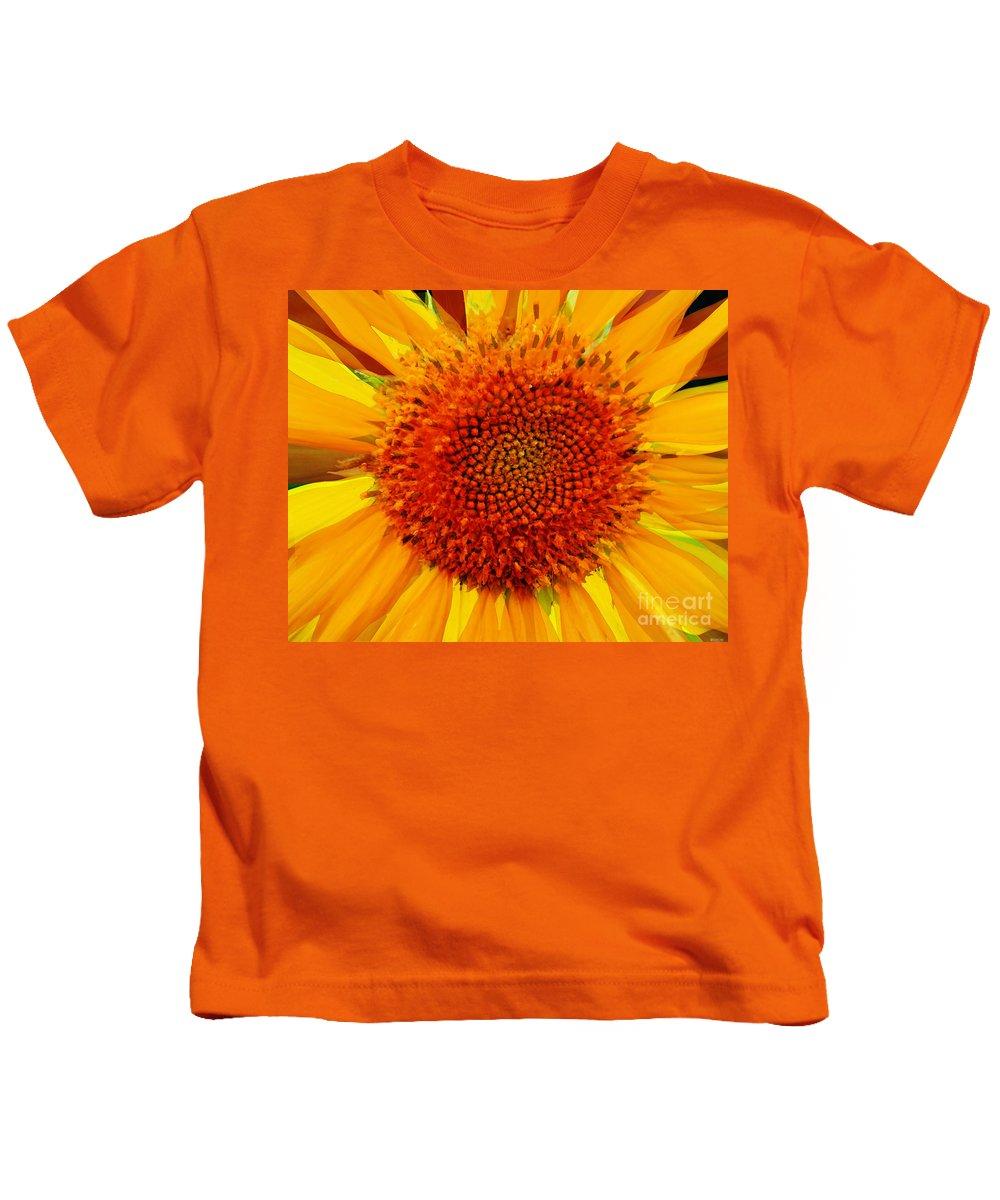 Flower Kids T-Shirt featuring the photograph Sunflower In The Sun by Lizi Beard-Ward