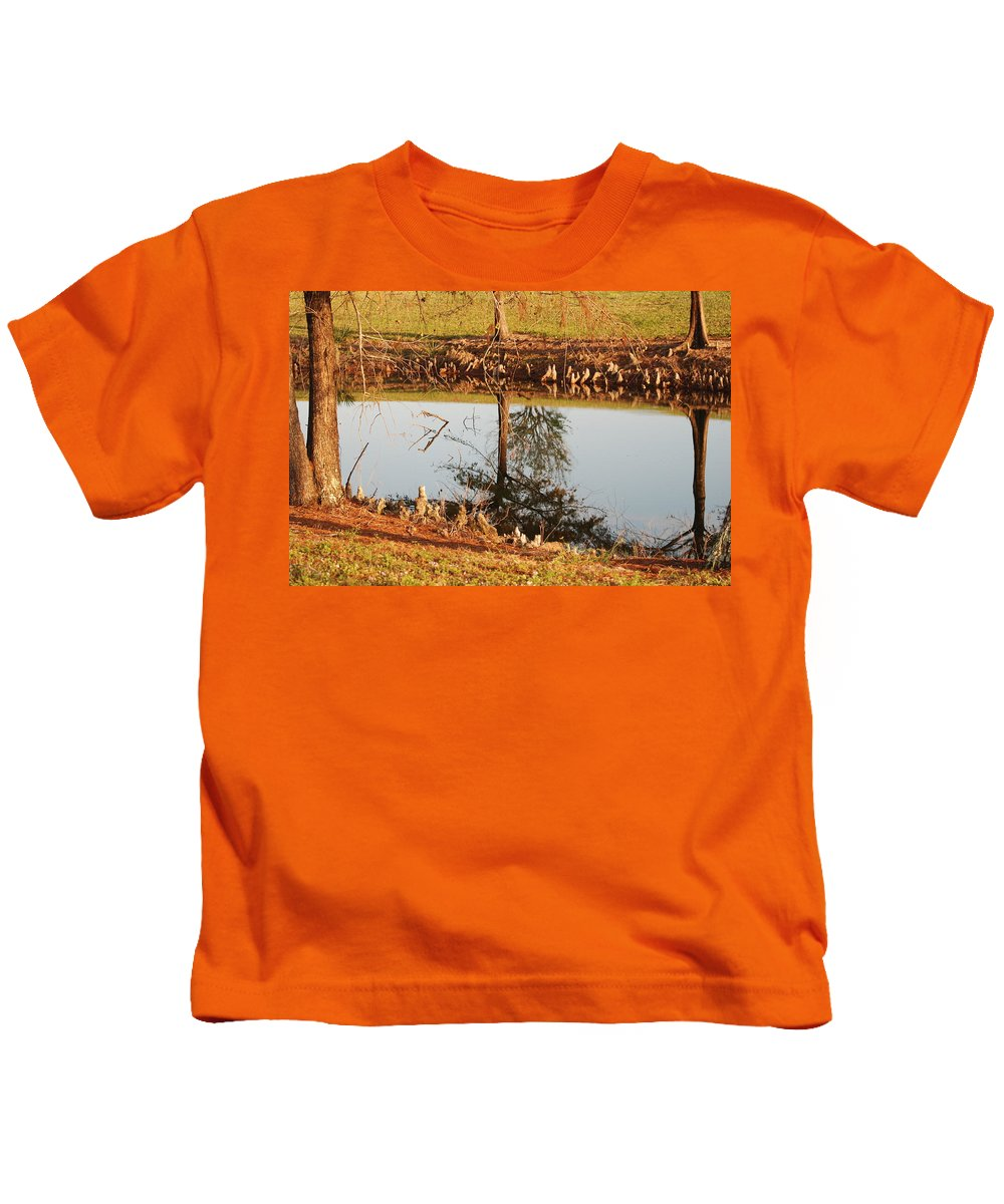 Water Kids T-Shirt featuring the photograph Sunny Pond by Rob Hans