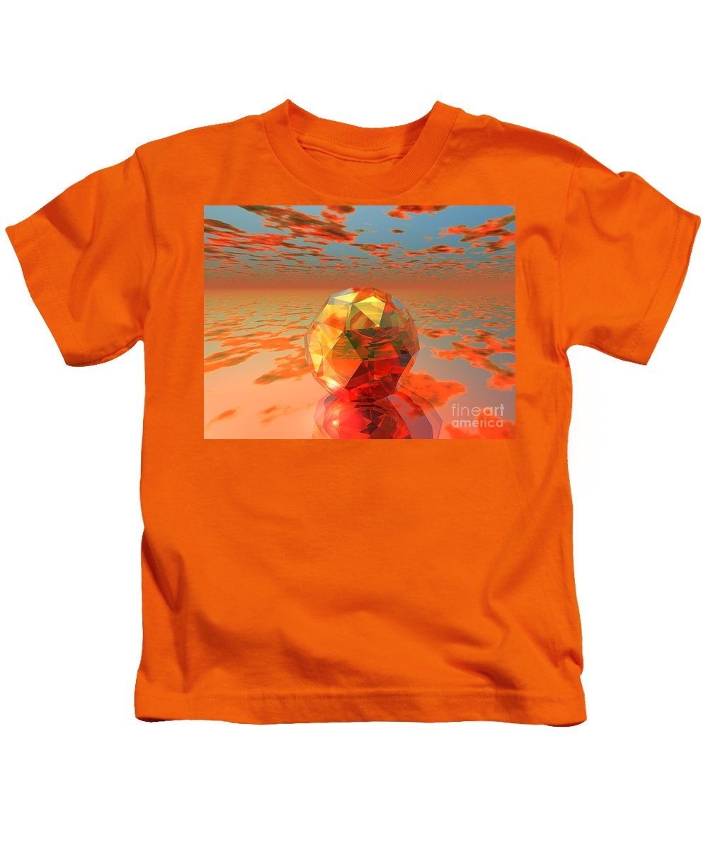 Surreal Kids T-Shirt featuring the digital art Surreal Dawn by Oscar Basurto Carbonell