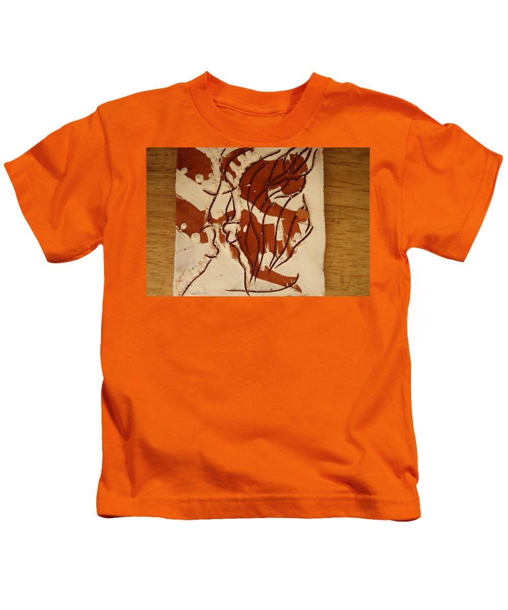 Jesus Kids T-Shirt featuring the ceramic art Sweethearts 15 - Tile by Gloria Ssali