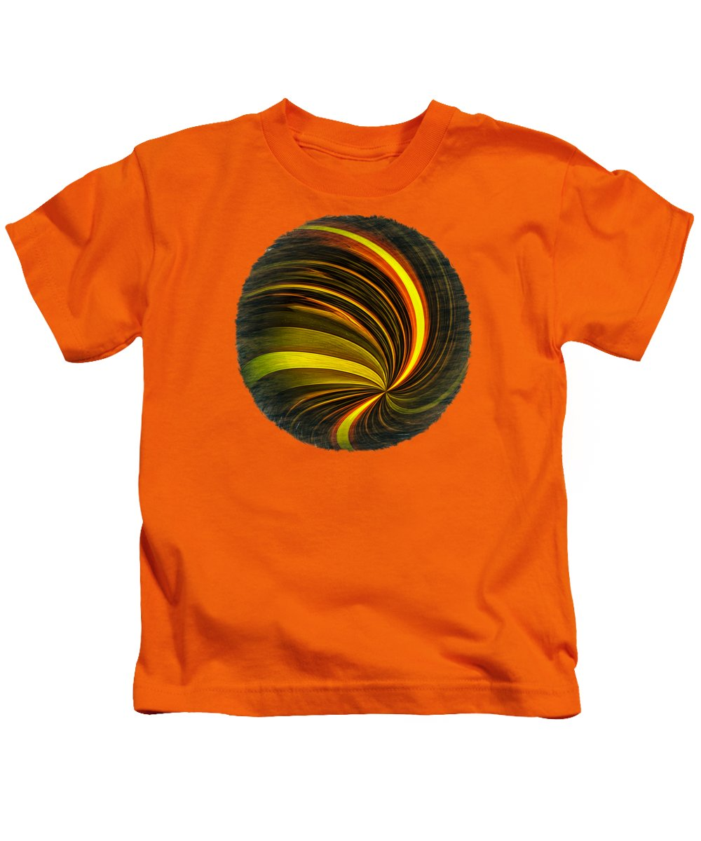 Abstract Kids T-Shirt featuring the photograph Swirls And Curls by John M Bailey