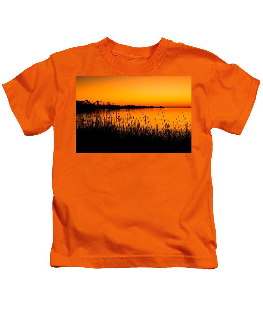 Beach Kids T-Shirt featuring the photograph Tangerine Sunset by Rich Leighton