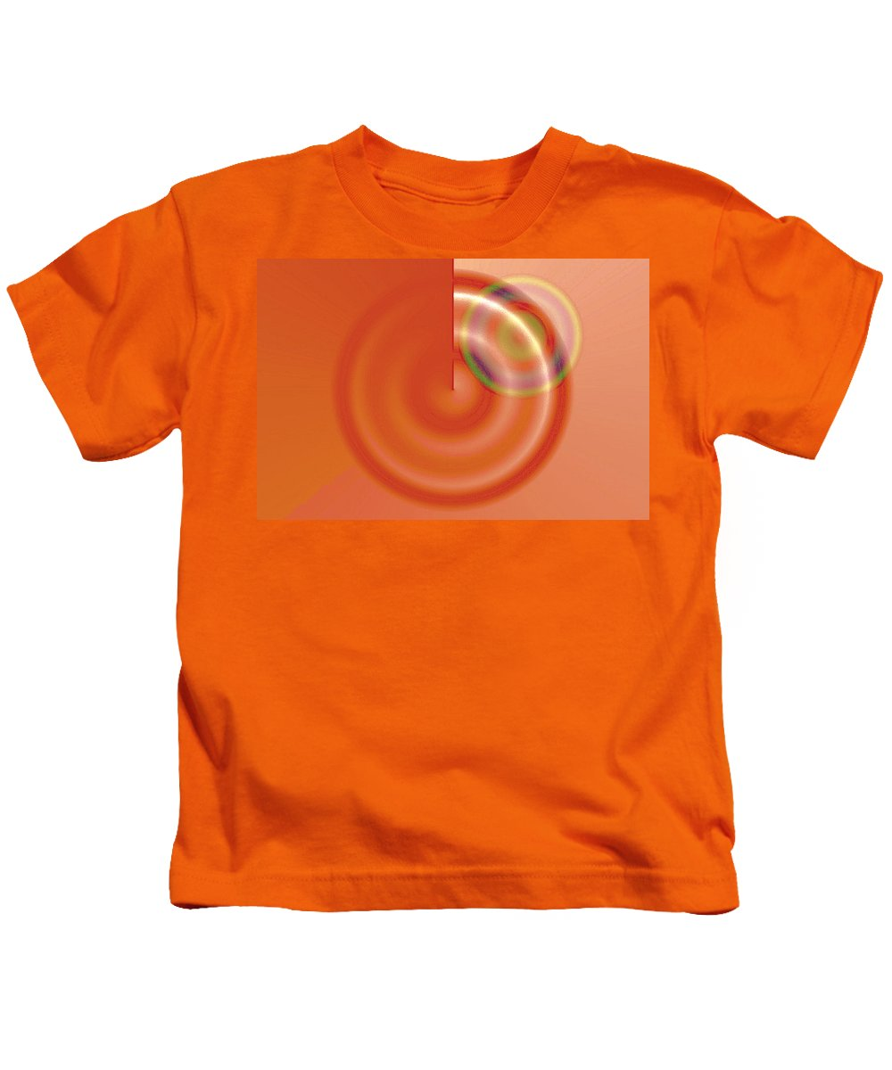 Abstract Kids T-Shirt featuring the digital art Targe Citron by Susan Baker