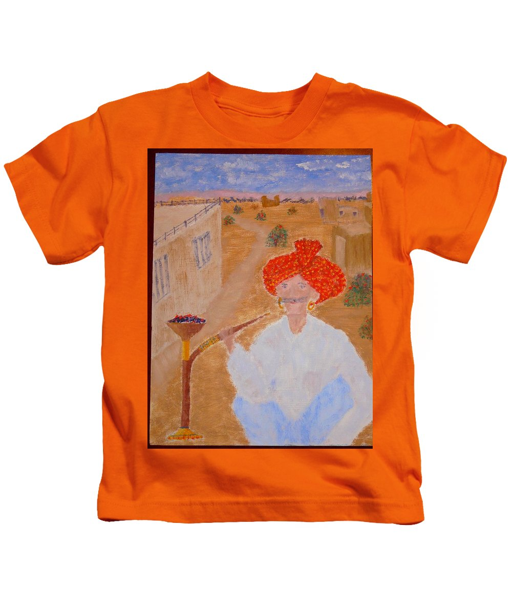 People Kids T-Shirt featuring the painting Tau by R B